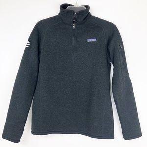 Patagonia Womens Small Black Better Sweater Zip
